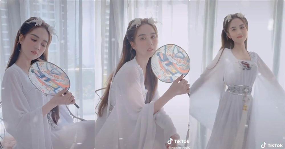 Hiền Hồ vào vai chị Hằng: Đánh phấn vừa dày vừa trắng bệch, nhìn qua cũng thấy hết hồn-5