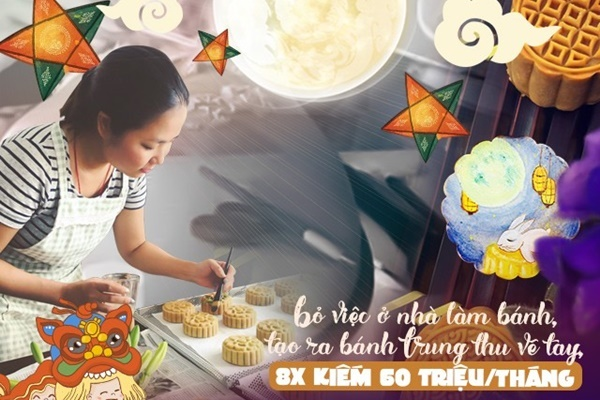 8X Sài Gòn kiếm 60 triệu/tháng nhờ làm bánh