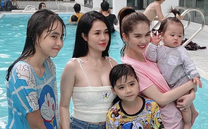 Vòng 1 phổng phao, chị gái Ngọc Trinh dù gái 3 con vẫn mặc trễ nải chẳng thua em gái-3
