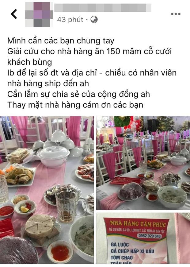 Ngoài hơn 150 mâm cỗ, cô dâu ở Điện Biên còn bị nhà hàng tố từng đặt 156kg gà, 40kg giò, 180 đĩa mía tráng miệng và cũng chưa trả tiền-1
