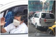 Xe chở bệnh nhân miễn phí của ông Đoàn Ngọc Hải bất ngờ xuất hiện dòng chữ phía sau, cộng đồng mạng rần rần tặng lời khen