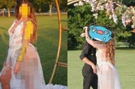 Cô dâu gây xôn xao MXH với chiếc váy cưới khiến dân tình 'nóng mắt', quan khách cũng phải xấu hổ không dám nhìn