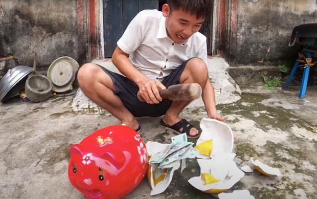 Hưng Vlog tiếp tục bị xử phạt 10 triệu đồng vì đăng tải video dạy cách trộm tiền heo đất-1
