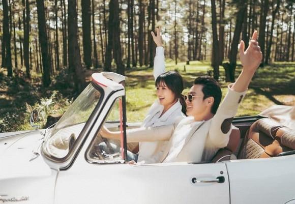 Bộ ảnh cưới nóng bỏng của diễn viên Thảo Trang và chồng trẻ kém 9 tuổi-1