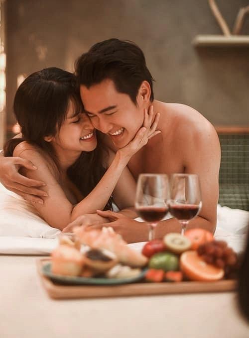 Bộ ảnh cưới nóng bỏng của diễn viên Thảo Trang và chồng trẻ kém 9 tuổi-5