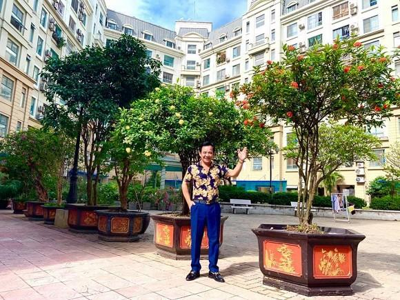 Nghệ sĩ Quang Tèo khoe khu vườn nhỏ muôn hoa đua sắc trước căn chung cư 7 tỷ đồng-5