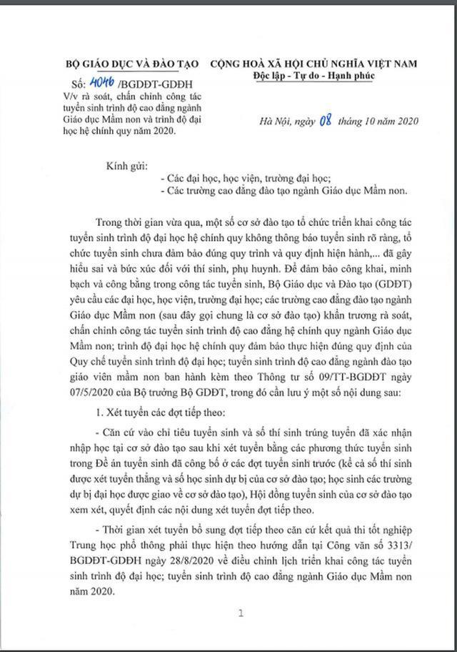 Bộ GD-ĐT chỉ đạo khẩn về vụ việc lật kèo tuyển sinh ở Đại học Thăng Long-1