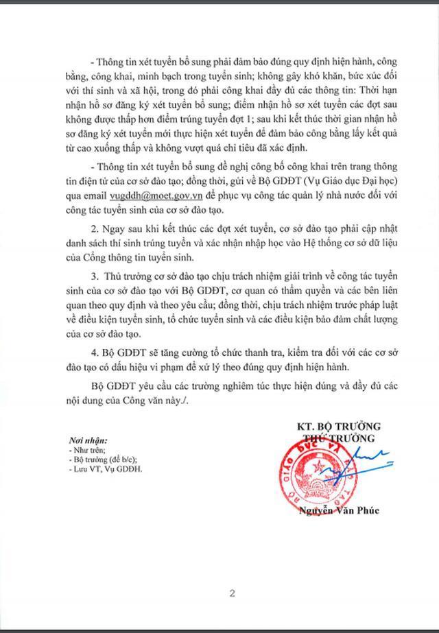 Bộ GD-ĐT chỉ đạo khẩn về vụ việc lật kèo tuyển sinh ở Đại học Thăng Long-2