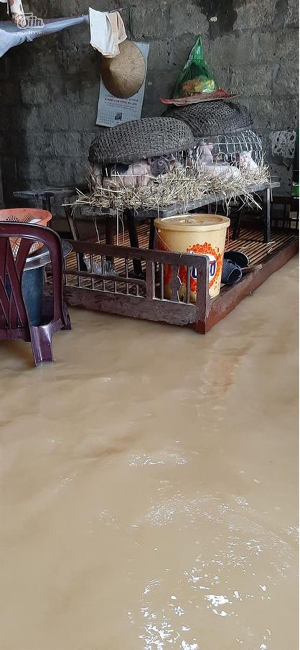 Mưa lũ miền Trung gây ngập nặng: Mong trời đừng mưa nữa, nhà mệ ngập hết rồi-6