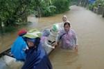 Chùm ảnh, video flycam: Cận cảnh lũ lịch sử nhấn chìm đường sá, ngập hàng ngàn ngôi nhà ở Quảng Bình-13