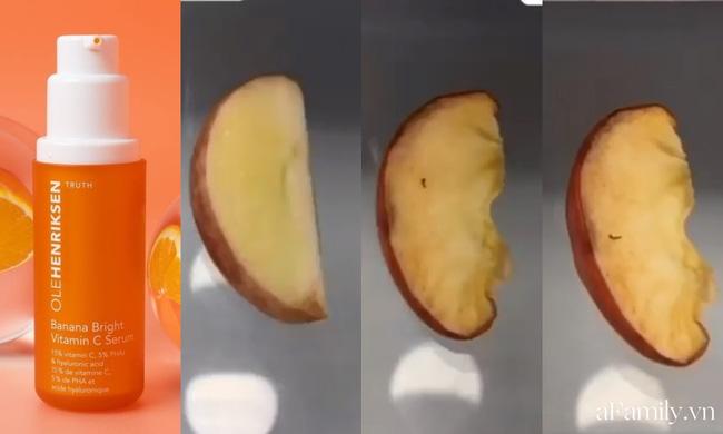 Thử khả năng chống oxy hoá của 4 lọ serum Vitamin C: Nhìn cái kết sau 24 tiếng bôi serum lên miếng táo mới thấy bất ngờ-1
