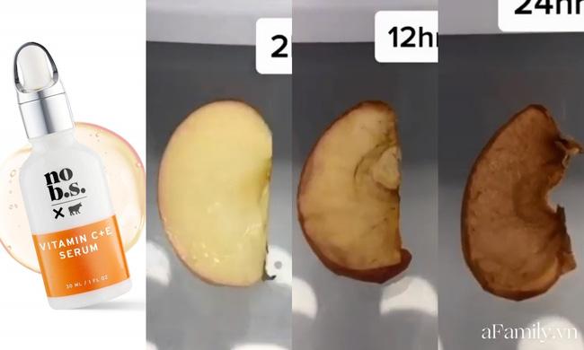 Thử khả năng chống oxy hoá của 4 lọ serum Vitamin C: Nhìn cái kết sau 24 tiếng bôi serum lên miếng táo mới thấy bất ngờ-2