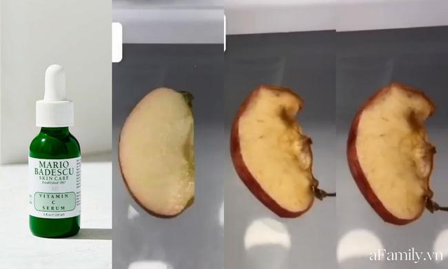 Thử khả năng chống oxy hoá của 4 lọ serum Vitamin C: Nhìn cái kết sau 24 tiếng bôi serum lên miếng táo mới thấy bất ngờ-3