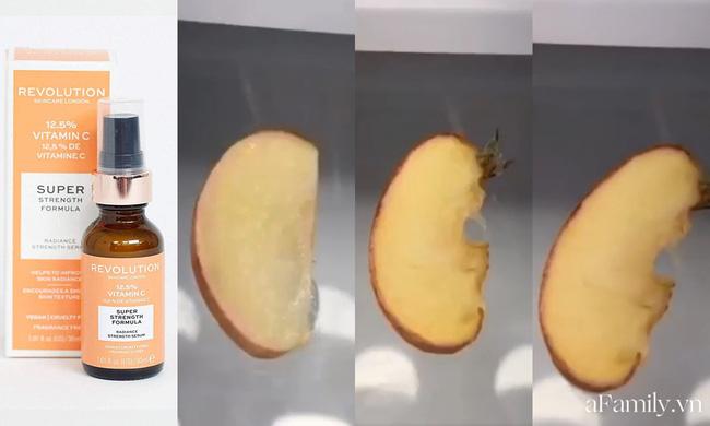 Thử khả năng chống oxy hoá của 4 lọ serum Vitamin C: Nhìn cái kết sau 24 tiếng bôi serum lên miếng táo mới thấy bất ngờ-4