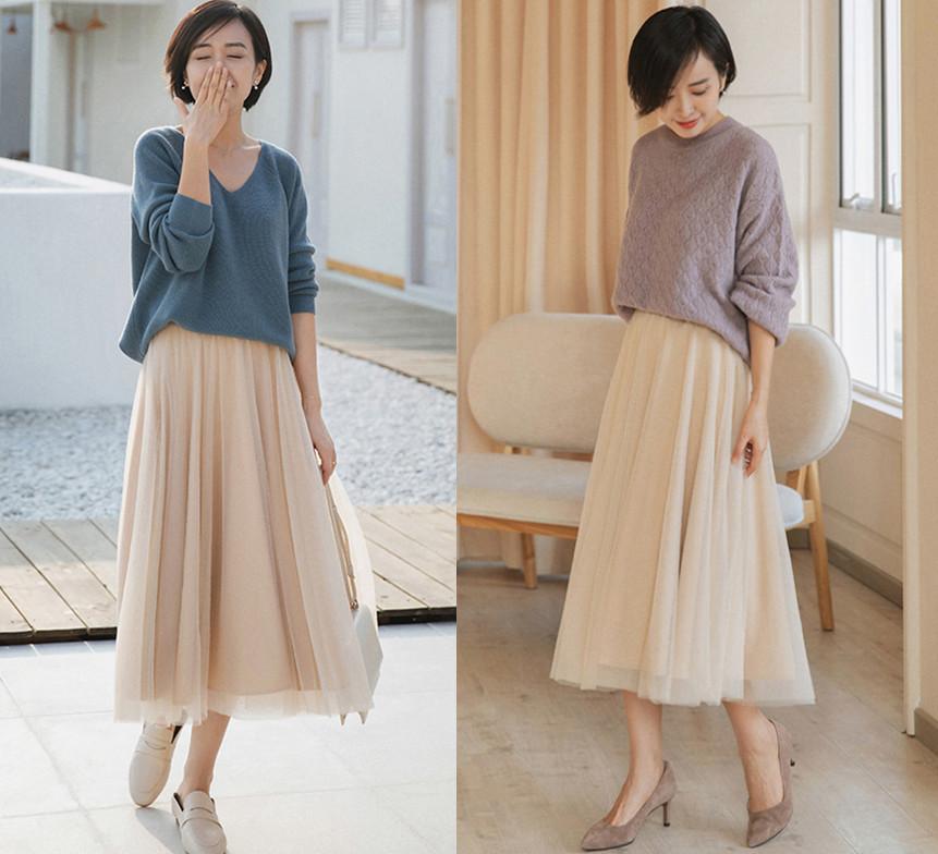 Chân váy xếp ly chính là bảo bối mặc đẹp cho nàng công sở, đã dễ diện còn không bao giờ lỗi mốt-11