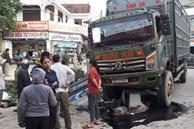 Xe tải lớn tông xe tải nhỏ văng xuống kênh, tài xế tử vong