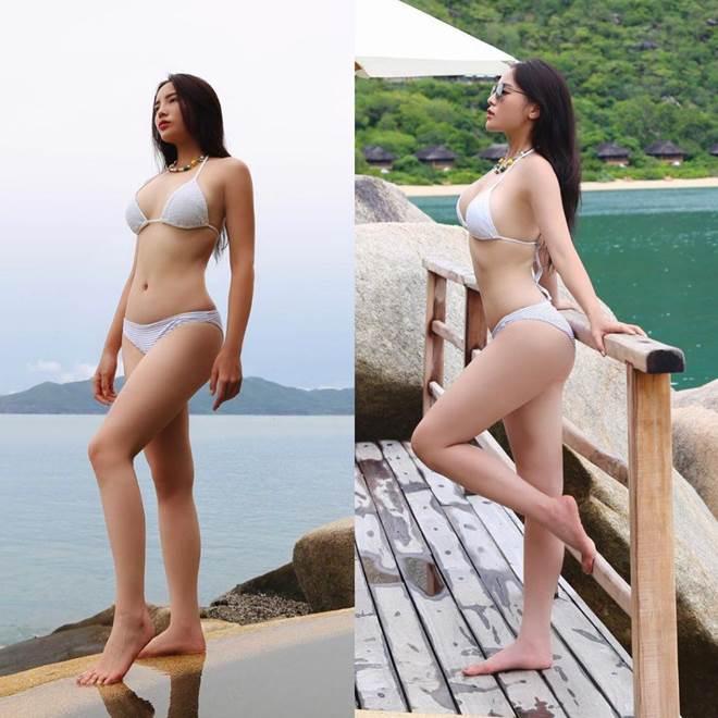 Kỳ Duyên diện bikini khoe dáng đẹp như tạc, nhưng chú ý hơn là làn da mất mác Hoa hậu-1