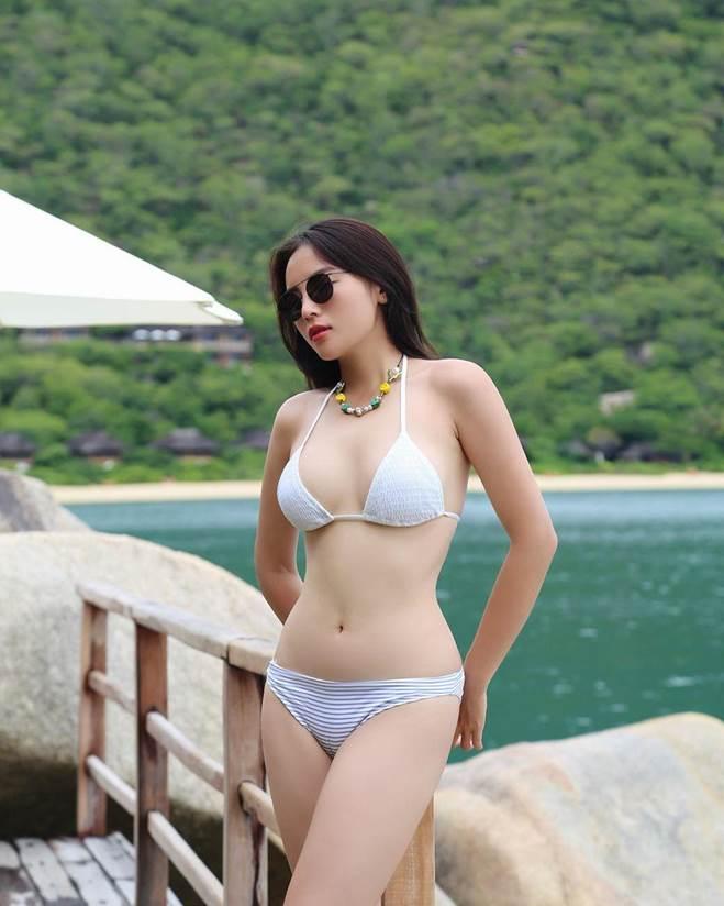 Kỳ Duyên diện bikini khoe dáng đẹp như tạc, nhưng chú ý hơn là làn da mất mác Hoa hậu-3