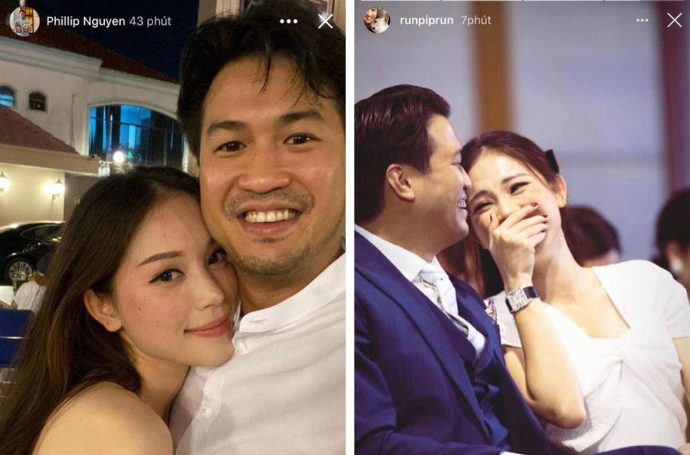 Linh Rin và Phillip Nguyễn cứ ôm nhau bất chấp trong hình chụp đôi hay ảnh gia đình, lấn lướt cả vợ chồng Hà Tăng-6