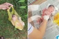 Bé sơ sinh nguyên dây rốn bị vứt bỏ trong túi ni lông ven đường