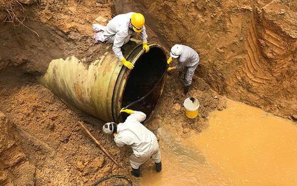 Hà Nội: Tạm ngừng cấp nước từ 18h chiều nay do sự cố đường ống nước sạch sông Đà-1