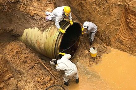 Hà Nội: Tạm ngừng cấp nước từ 18h chiều nay do sự cố đường ống nước sạch sông Đà