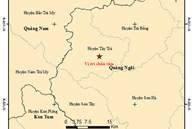 Liên tiếp xảy ra 2 trận động đất trong một buổi sáng ở Quảng Ngãi