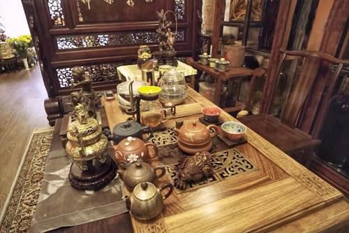 Choáng ngợp căn nhà nội thất toàn gỗ khắc nguyên khối tiền tỉ của đại gia Hà thành-6