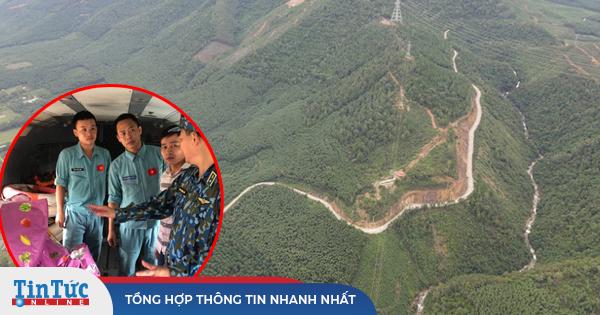 Hình ảnh hiện trường thủy điện Rào Trăng 3 nhìn từ máy bay trực thăng