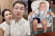 """Hai nhóc tỳ chưa đầy năm, vợ Thành Trung đã sắm góc học tập, câu trả lời của con khi được hỏi """"ba đâu"""" mới là điều gây chú ý!"""