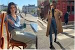 Trăm kiểu thời trang phang thời tiết của sao: se lạnh mặc hở hang, khoác áo lông giữa trời nóng-12