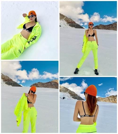 Trăm kiểu thời trang phang thời tiết của sao: se lạnh mặc hở hang, khoác áo lông giữa trời nóng-4