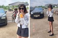 Gái xinh đọ dáng với Rolls Royce, dân mạng hỏi thăm nhiệt tình hóa ra... là chụp ké