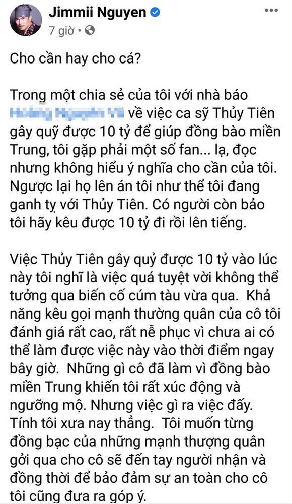 Jimmii Nguyễn lên tiếng sau khi bị ném đá vì phát ngôn nhắc chuyện từ thiện của Thủy Tiên-5