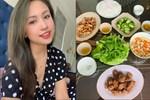 Vợ Thành Trung không chỉ khéo chăm con màcòn giỏi chiều chồng, nấu toàn món đưa cơm lại còn hợp thời tiết ngày lạnh-13