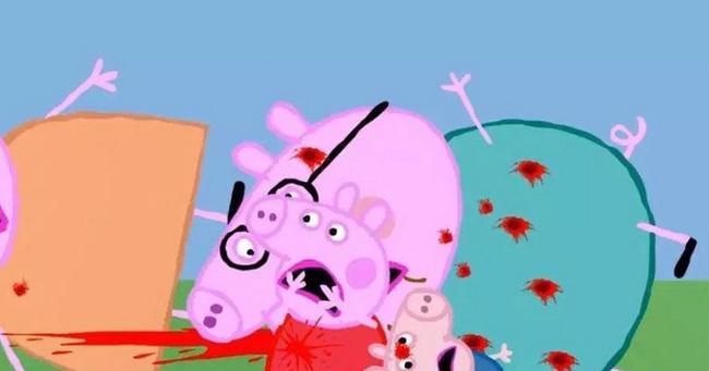 Loạt hình ảnh rùng rợn của hoạt hình Peppa Pig nhái trên Youtube: Gieo rắc ý định tự làm bản thân bị thương vào đầu trẻ?-3