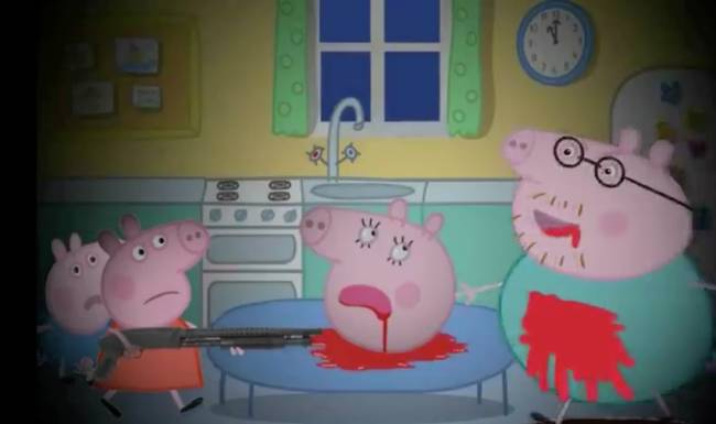 Loạt hình ảnh rùng rợn của hoạt hình Peppa Pig nhái trên Youtube: Gieo rắc ý định tự làm bản thân bị thương vào đầu trẻ?-5
