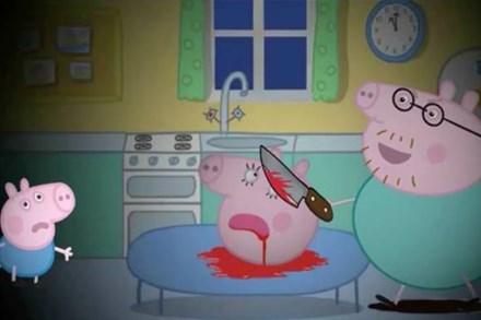 Loạt hình ảnh rùng rợn của hoạt hình Peppa Pig nhái trên Youtube: Gieo rắc ý định tự làm bản thân bị thương vào đầu trẻ?