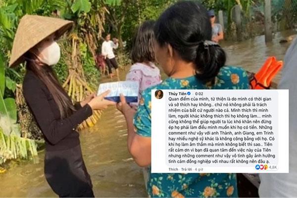 Thủy Tiên phản ứng gay gắt khi cư dân mạng nhắc tới Trấn Thành, Ngọc Trinh