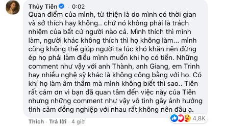 Thủy Tiên phản ứng gay gắt khi cư dân mạng nhắc tới Trấn Thành, Ngọc Trinh: Những comment như vậy gây ảnh hưởng tình cảm đồng nghiệp-3