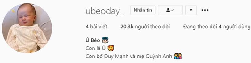 Con trai Duy Mạnh chính thức gia nhập hội hot kid Việt với bức ảnh góc nghiêng thần thánh được bố chụp sương sương trên story-2
