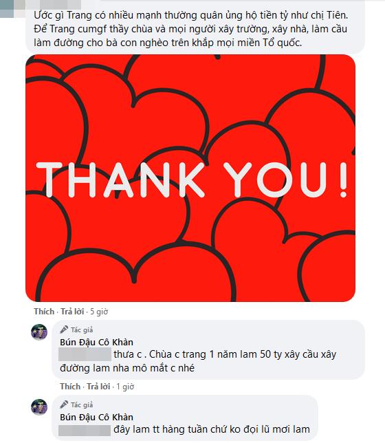 """Bị so sánh với Thủy Tiên, Trang Trần đáp trả: Đây làm từ thiện hàng tuần chứ không đợi lũ mới làm""""-3"""