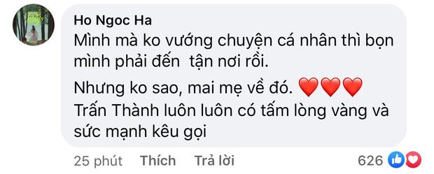 Trấn Thành thông báo không thể vào miền Trung, chuyển tiền nhờ các nghệ sĩ Việt giúp cứu trợ, Hà Hồ có bình luận gây chú ý-6