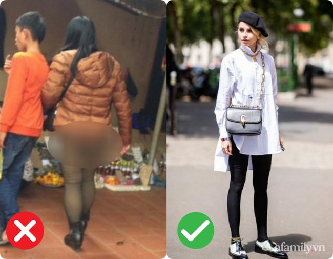 Trời lạnh là dân tình lại nhức nhối với kiểu ăn mặc của một vài chị em: Vô tư diện legging hớ hênh khiến người nhìn ngán ngẩm-1