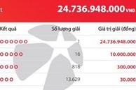 Đầu tháng lộc lớn, trúng độc đắc Vietlott 25 tỷ đồng