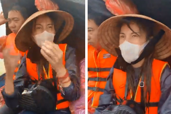 """Thủy Tiên quần áo ướt sũng lênh đênh trên biển nước lũ"""" ở Quảng Bình, đã cứu thêm được người già và trẻ em khỏi vùng nguy hiểm-1"""
