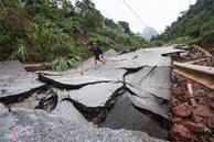 Quốc lộ 12A bị nứt gãy như động đất