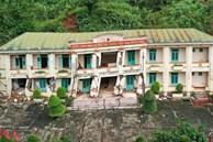 Hiện trường vụ sạt lở tại Đồn Biên phòng Cha Lo