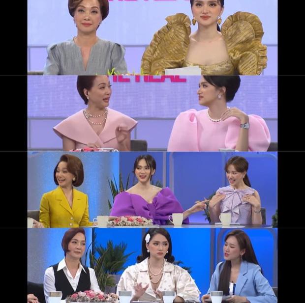 Netizen tranh cãi tố Hương Giang liên tục mặc lố trên sóng truyền hình, chiếm luôn spotlight của Hari Won và tiền bối-1