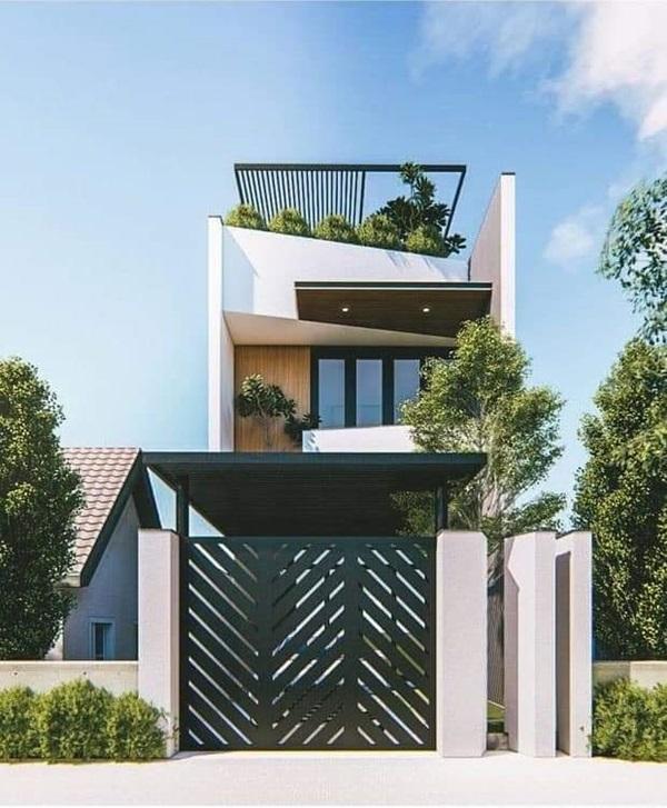 Những mẫu nhà phố đẹp như mơ, ai ngắm cũng phải trầm trồ vì thiết kế cực độc đáo và hiện đại-10